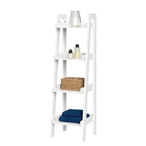 4 Tier Narrow Ladder Bathroom Shelf Riverridge Home Target