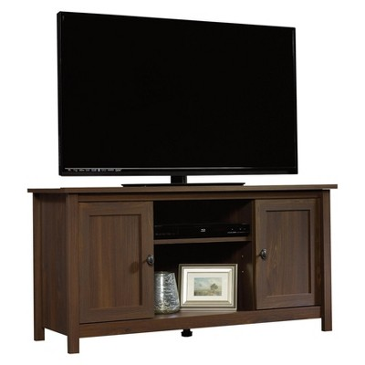 County Line TV Stand with Adjustable Shelves - Rum Walnut - Sauder