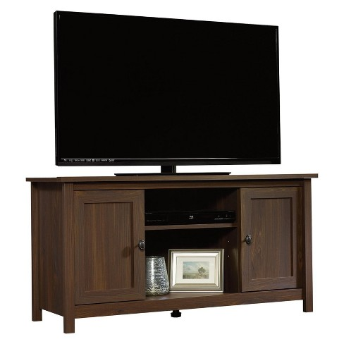 County Line TV Stand with Adjustable Shelves - Rum Walnut - Sauder - image 1 of 6