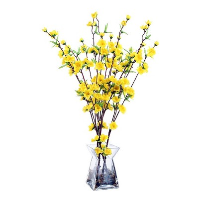 Artificial Arrangement Blossom Acryllic Water - Yellow (24 )