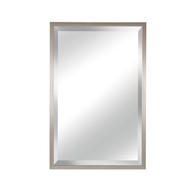 """19"""" X 29.5"""" Pewter Framed Beveled Glass Decorative Wall Mirror - Alpine Art and Mirror"""