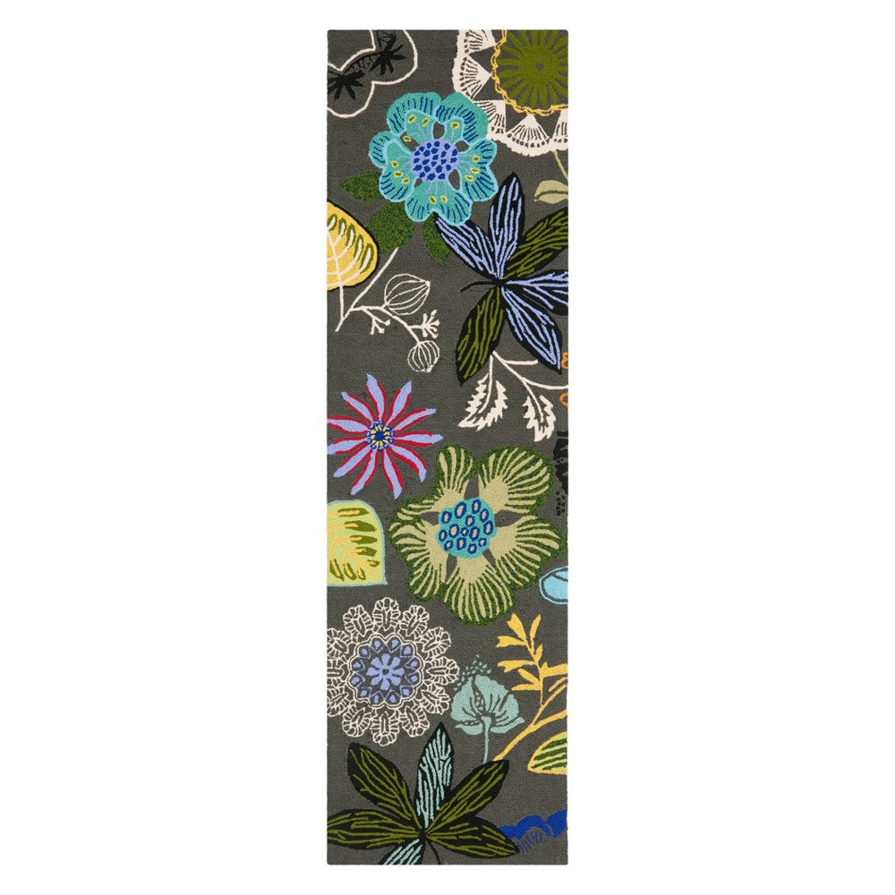 23X6 Floral Runner Gray - Safavieh Coupons