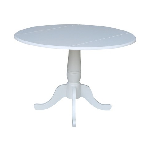 42 Patsy Round Top Dual Drop Leaf Table White International