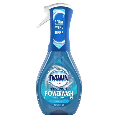 Dawn Platinum Powerwash Dish Spray, Dish Soap, Fresh Scent, 16oz