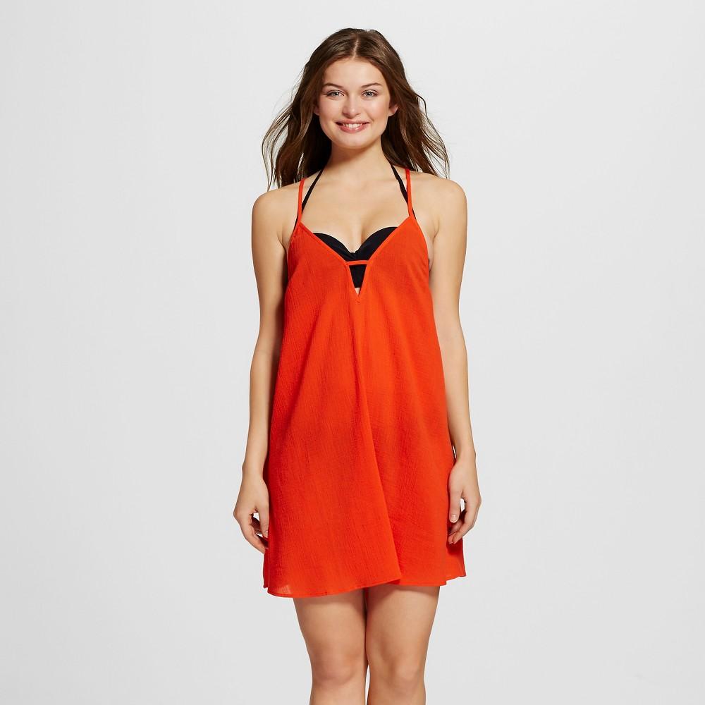 Women's Gauze Dress Cover Up - Xhilaration Coral (Pink) M