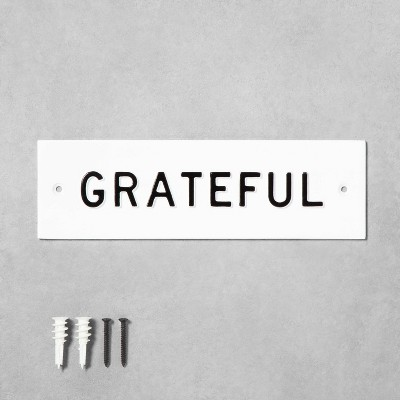 'Grateful' Wall Sign White/Black - Hearth & Hand™ with Magnolia
