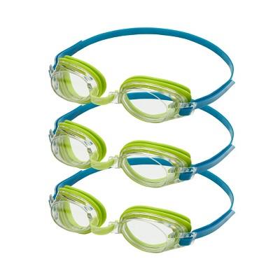 Speedo Junior 3pk Swim Goggles - Lime/Clear
