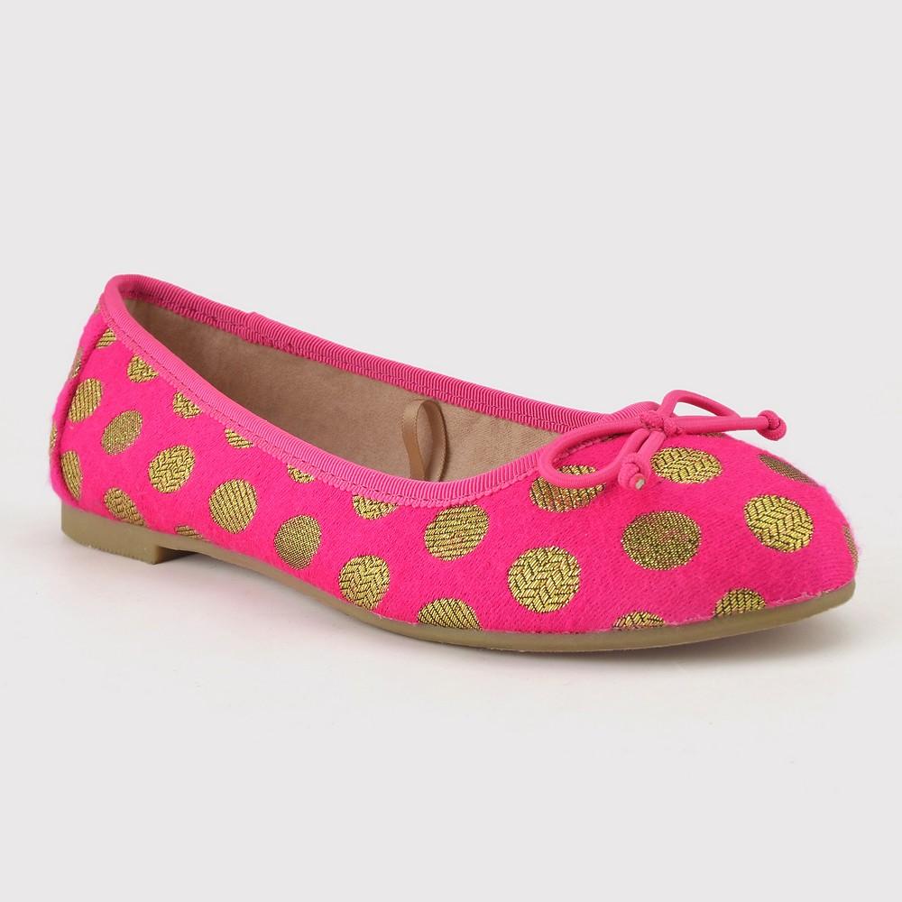 Girls' Brandee Ballet Flats - Cat & Jack Pink 1, Cyber Pink
