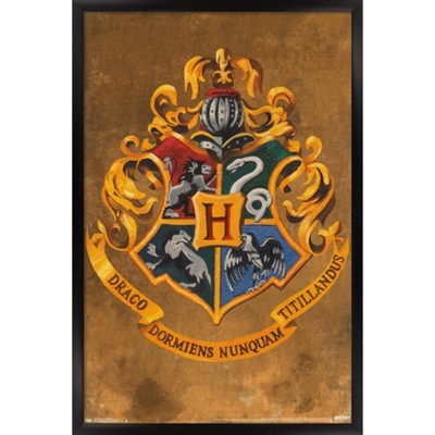 Harry Potter - Hogwarts Crest Framed Poster Trends International