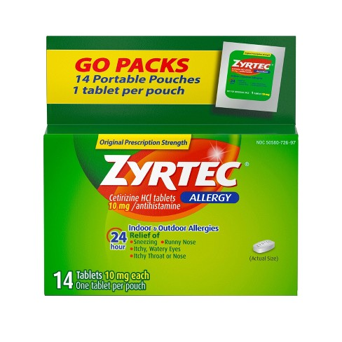 Zyrtec 24 Hour Allergy Relief Tablets - Cetirizine HCl - image 1 of 4