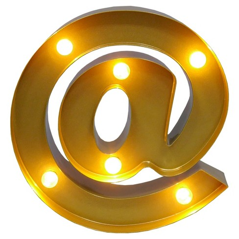 Marquee Letter Light Brass LED Lights - Threshold™ - image 1 of 1