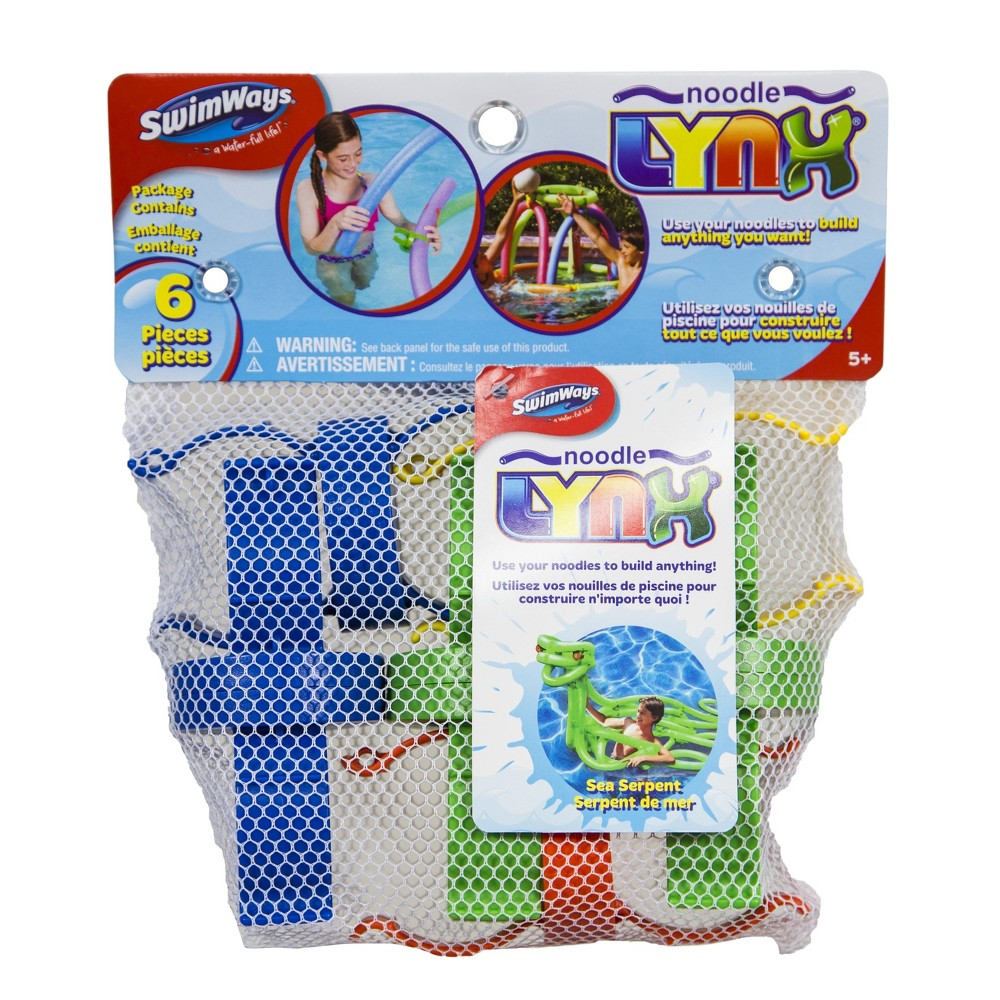 SwimWays Noodle LYNX Pool Toys - 6pc