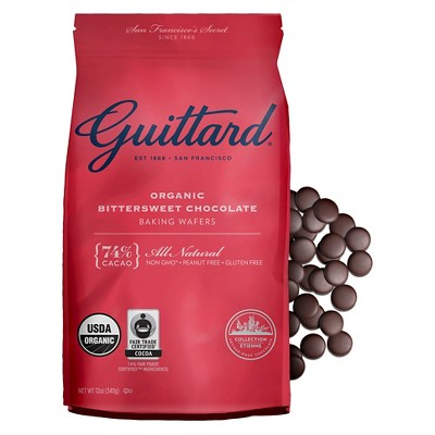 Baking Chips & Chocolate: Guittard Bittersweet Chocolate Baking Wafers