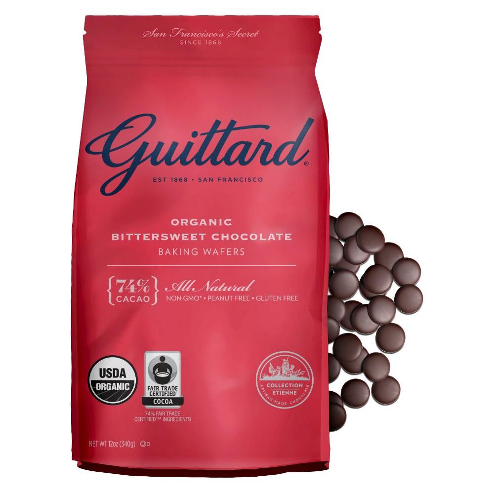 Guittard Organic Bittersweet Chocolate Baking Wafers 12oz