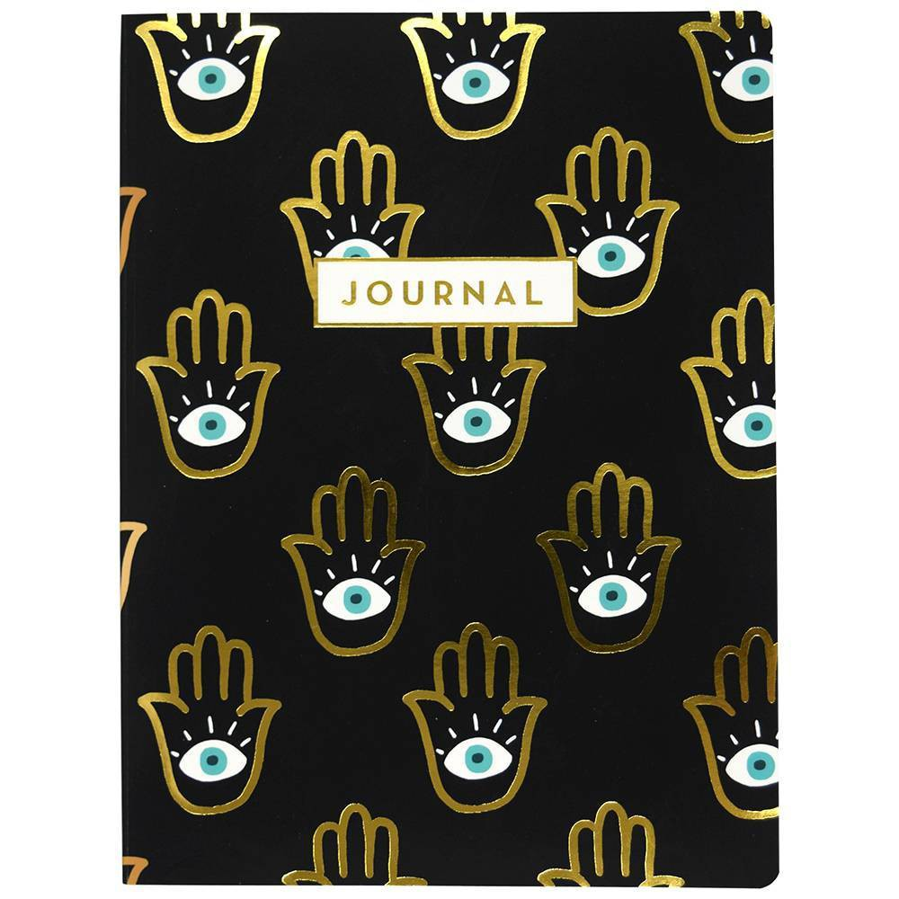 Image of Lined Journal Mystical Eye Softbound Golf Foil Accent and Ribbon Palms - Top Flight