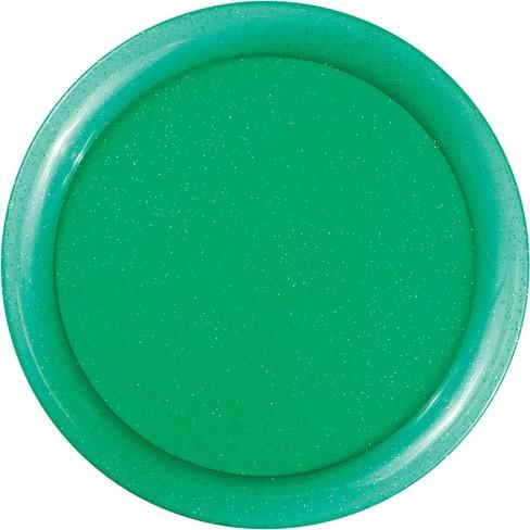 Glitter Round Plastic Tray Green - image 1 of 1
