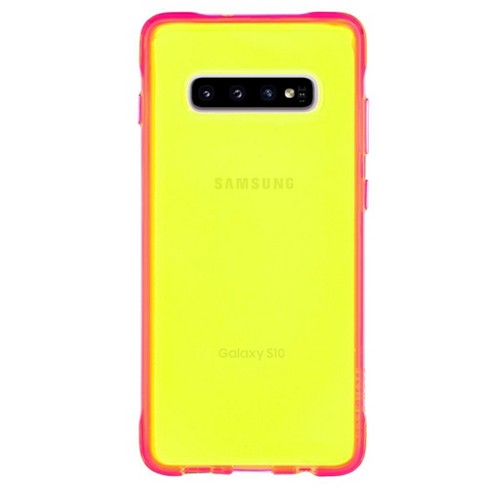 Case-Mate Galaxy S10 Tough Neon Green - Pink - image 1 of 6