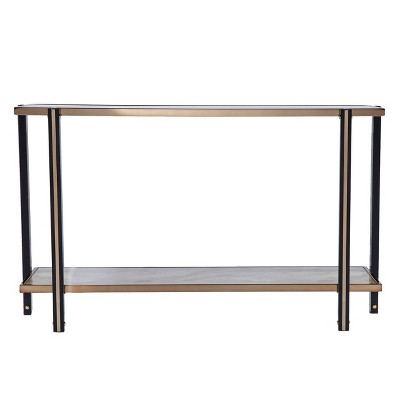 Carswaf Console Table with Mirrored Top Champagne - Aiden Lane