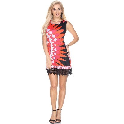 red and black dress,