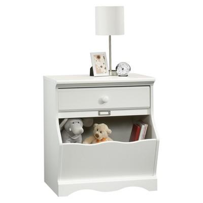 Pogo Nightstand with Storage Bin - Soft White - Sauder