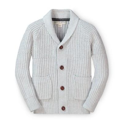 Hope & Henry Boys' Long Sleeve Shawl Collar Sweater Cardigan, Kids