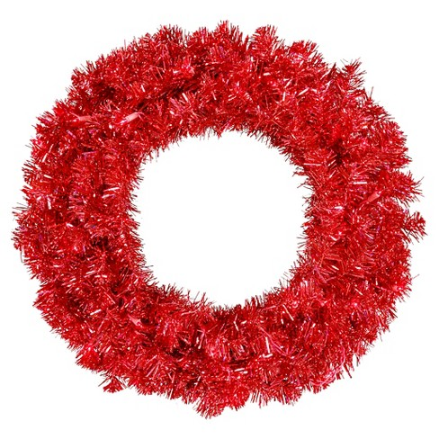 "30"" Pre-Lit Christmas Wreath Red - Red Lights - image 1 of 1"