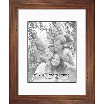 "8"" x 10"" Letter Flowers I Single Picture Frame Brown - PTM Images"