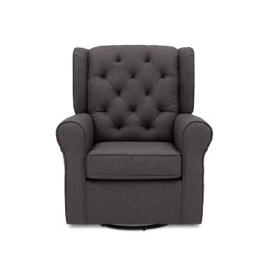 Delta Children Emma Nursery Glider Swivel Rocker Chair – Charcoal