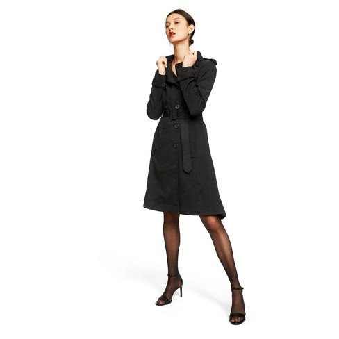 Women's Snakeskin Long Sleeve Front Button-Down Trench Coat - Altuzarra for Target Black - image 1 of 6