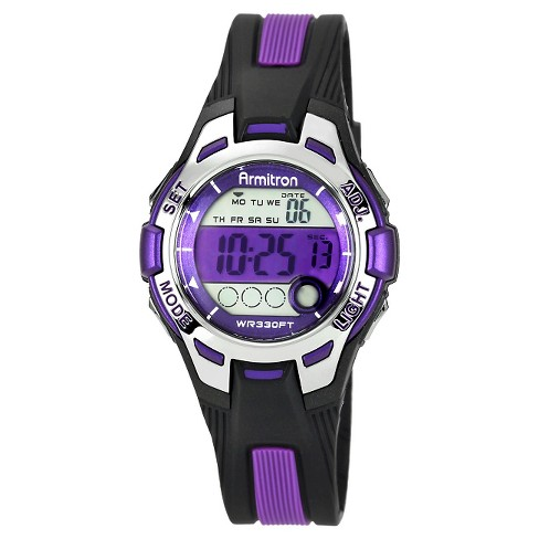 Women's Armitron Digital and Chronograph Sport Resin Strap Watch - Purple - image 1 of 1