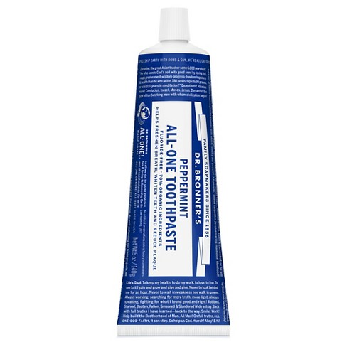 Dr Bronner's Peppermint All-One Toothpaste - 5oz - image 1 of 2