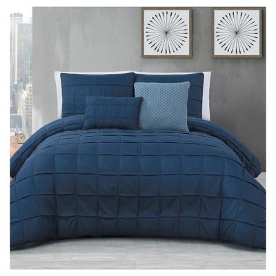 Navy Madison Comforter Set (Queen)5pc