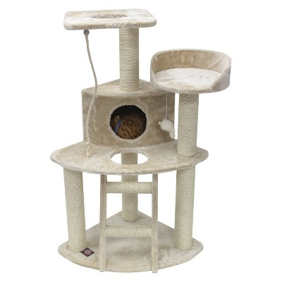 Majestic Pet Products Faux Fur Cat Tree - 48""