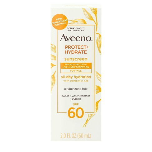 Aveeno Protect & Hydrate Sunscreen Face Lotion - SPF 60 - 2 fl oz - image 1 of 4