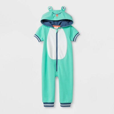 Baby Frog Dress Up to Play Romper - Cat & Jack™ Blue 3-6M