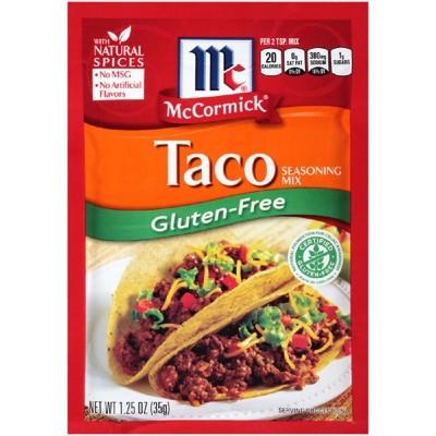 McCormick Gluten Free Taco Seasoning Mix - 1.25oz