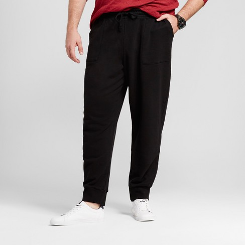 32839f7a7a2 Men s Big   Tall Jogger Pants - Goodfellow   Co™ Black 3XB   Target