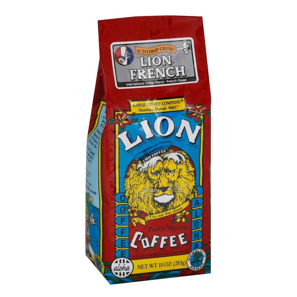 Lion Coffee Lion French Dark Roast Ground Coffee - 10oz