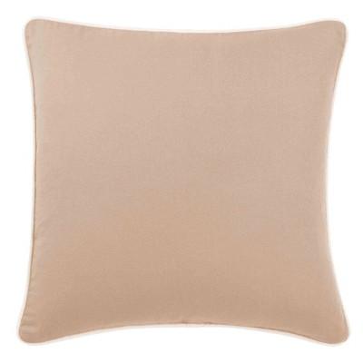 """18""""x18"""" Sailcloth Cotton Duck Pillow Beige - Sure Fit"""