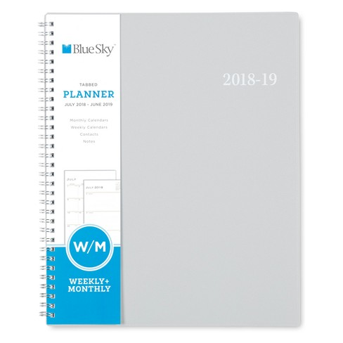 2018 - 2019 Spiral Planners Blue Sky - Grey - image 1 of 5