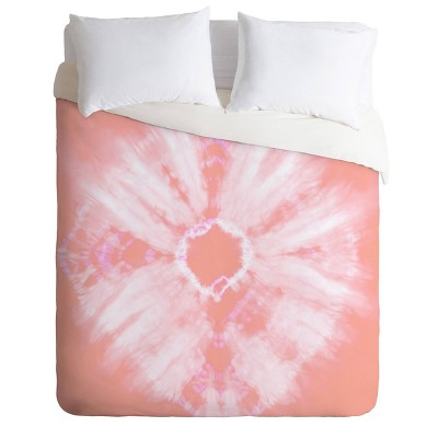 Amy Sia Tie Dye Pink Comforter Set - Deny Designs