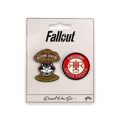Just Funky Fallout Atom Cats & Red Rocket Pins | Exclusive Collectible Enamel Pins | 2 Pack
