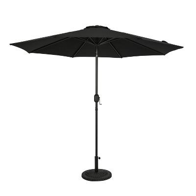 9' Trinidad II Market Patio Umbrella Black - Island Umbrella