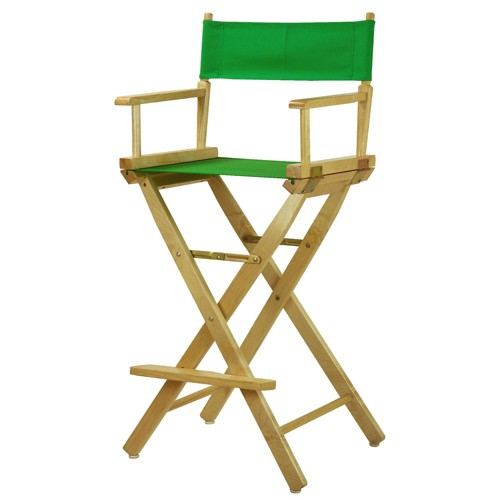 Green Bar Height Director's Chair-Natural