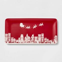 "14.3"" Melamine Santa Serving Tray Red - Threshold™"