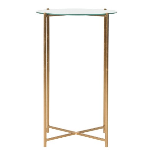 Flamel End Table Gold/Mirror - Safavieh® - image 1 of 4