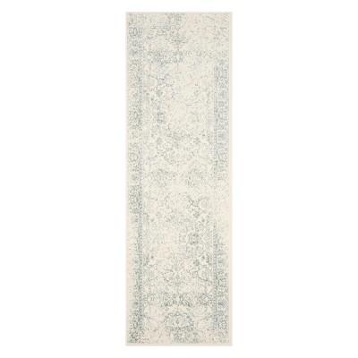 2'6 X14' Spacedye Design Runner Ivory/Slate - Safavieh