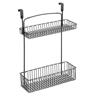 mDesign Over Cabinet Kitchen Storage Organizer Holder/Basket