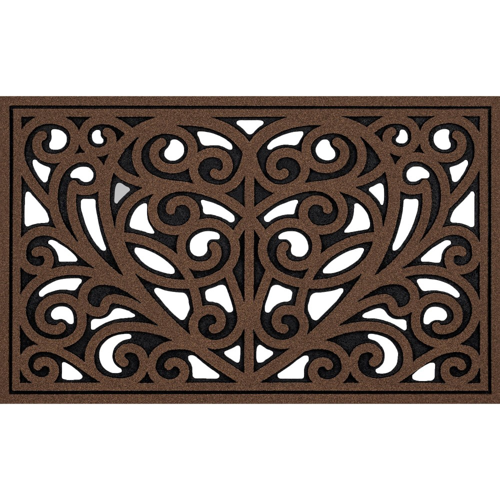 "Image of ""2'x3'3"""" All Seasons Heart Iron Doormat Brown - Apache Mills"""