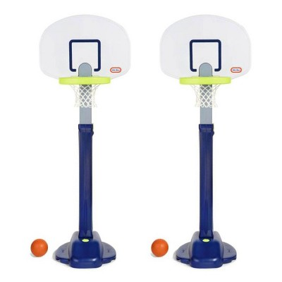 Little Tikes Adjust 'n Jam Pro Basketball Hoop Toy with Sand Base (2 Pack)
